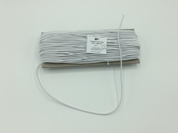 Tresa elastic - Alb - 50 ml - Aura rotund