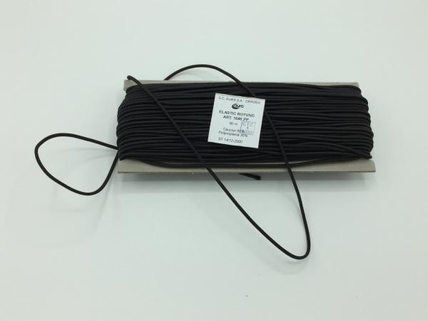 Tresa elastic - Negru - 50 ml - Aura rotund